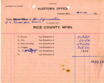 Auditor's Office Statement of Account June 24 1937