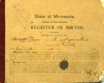 Bridgewater Township Register of Births, 1908-1915