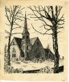 Block print of the First Congregational Church