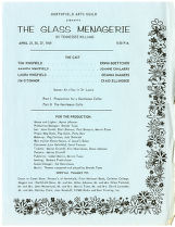 Program for The Glass Menagerie