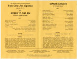 Program for Two One-Act Operas
