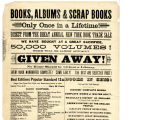 Advertisement for a book sale at Greaves & Co.'s [Company's] Drug Store