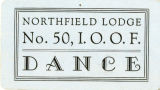 Northfield Lodge Dance Ticket