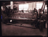 A shearing machine in the Northfield Iron Company workshop