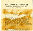 Biography of Solomon P. Stewart