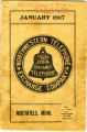 1907 phone book for Northfield, MN from the Northwestern Telephone Exchange Company