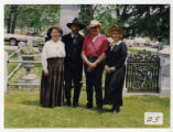 Audrey and Chip DeMann with Tom Skluzacek and Laurie Williams Streitz by Archibald's grave in...