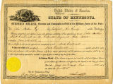 Document promoting John Norton to First Lieutenant in the Civil War